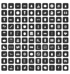 100 wellness icons set black vector