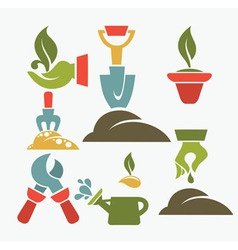 green fingers vector image