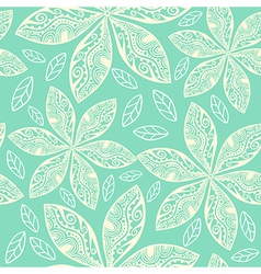 Colorful floral seamless pattern in cartoon style vector