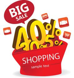 Big sale shopping vector