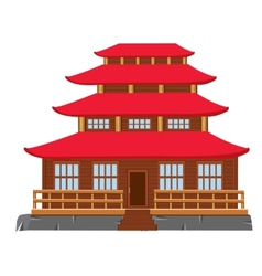 Building of the japanese architecture vector