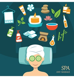 Spa flat design vector