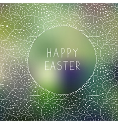 easter background mesh vector image