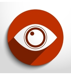 Eye web icon vector