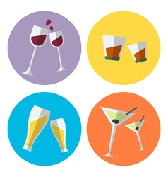 Wine set 1 vector
