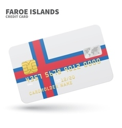 Credit card with faroe islands flag background for vector