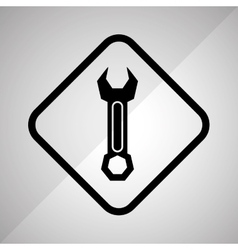 Wrench tool design vector