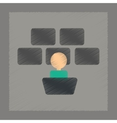 Flat shading style icon screen guard vector