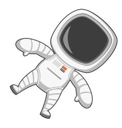 Astronaut in zero gravity vector