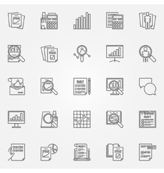Audit icons set vector image vector image