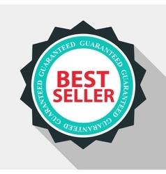 Best Seller Quality Label Sign in Flat Modern vector image