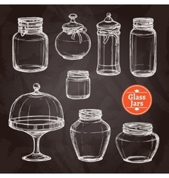 Big Jar Set vector image