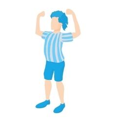 Football player icon cartoon style vector