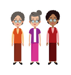 Group grandmother family member vector