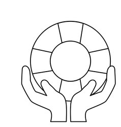 Hands human with float vector
