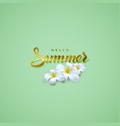 Handwritten summer retro label vector