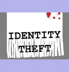 id theft vector image