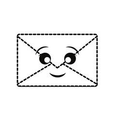 kawaii envelope icon vector image