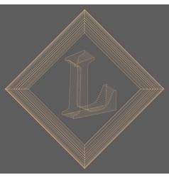 letter L Fonts of Mesh vector image