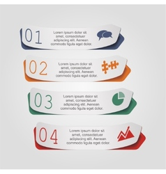 Modern arrow infographics element layout vector image
