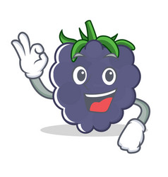 Okay blackberry character cartoon style vector