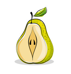 pear fresh and healthy fruit vector image vector image