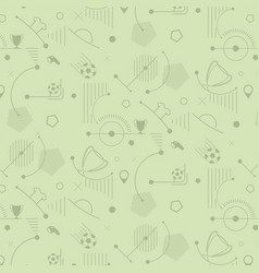 seamless soccer pattern football background vector image vector image