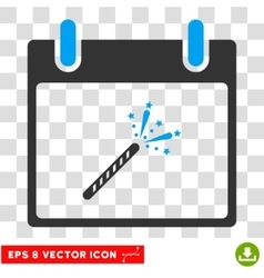 Sparkler firecracker calendar day eps icon vector