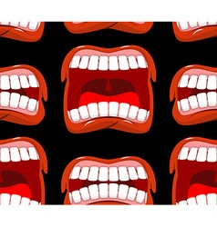 Yells lips seamless pattern cry background vector