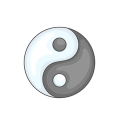 Ying yang icon in cartoon style vector