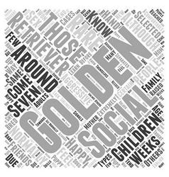 Socializing Your Golden Retriever Word Cloud vector image