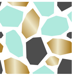 Green gold gray abstract geometric pattern vector