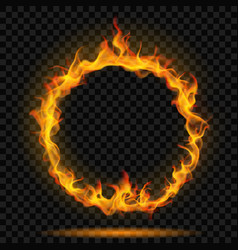 Ring of fire flame vector