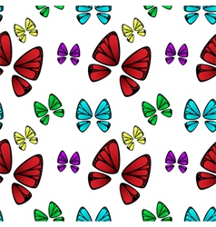 Butterfly colorful pattern vector