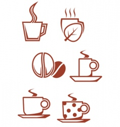 Tea and coffee symbols vector