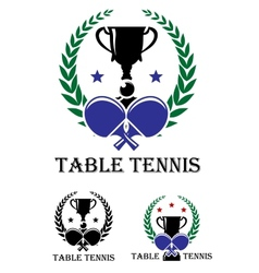 Table tennis emblem vector