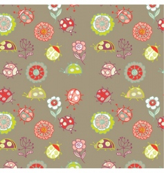 pattern with ladybird vector image