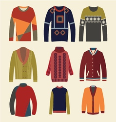 Mens sweaters - vector