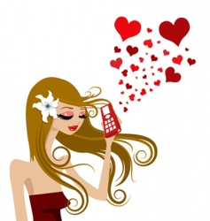 love call vector image