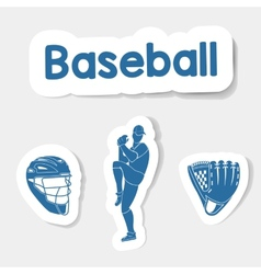 Logo baseball on a light background vector