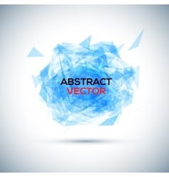 Abstract blue geometric explosion speech vector
