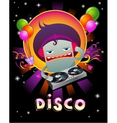 Stylish disco party banner vector image