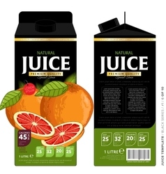 Template packaging design grapefruit juice vector