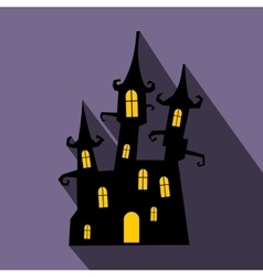 Dream castle flat icon with shadow vector