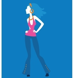 Fashion model girls vector