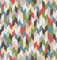 Retro colored geometric seamless background vector