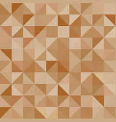 Abstract background brown triangles vector