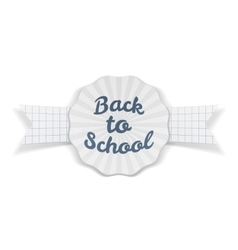 Back to school sale banner with ribbon and shadow vector