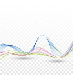 background wave the movement of the waves vector image