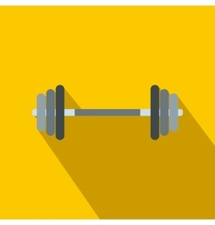 Barbell flat icon vector image vector image